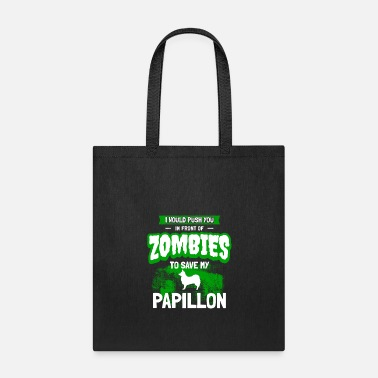 Dog Papillon Zombie Halloween Humor Dog Owner Gift - Tote Bag