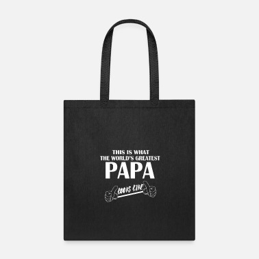 Funny Jokes This is what the world's greatest papa looks like! - Tote Bag