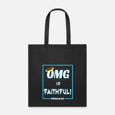 Winner Religious & Faithful Tshirt Designs OMG IS FAITHFUL - Tote Bag