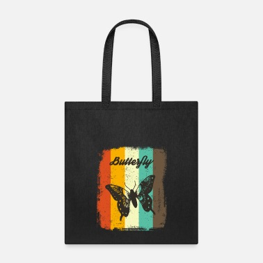 Phone Butterfly Retro 70s Vintage Insect Lover Gift - Tote Bag