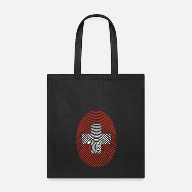 Map Swiss Fingerprint Gift Christmas Flag Cross - Tote Bag