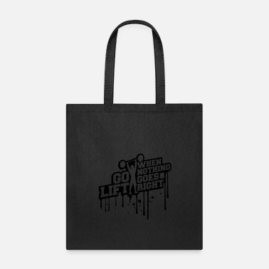 Lift Elevator graffiti training bodybuilder fitness muscles stro - Tote Bag