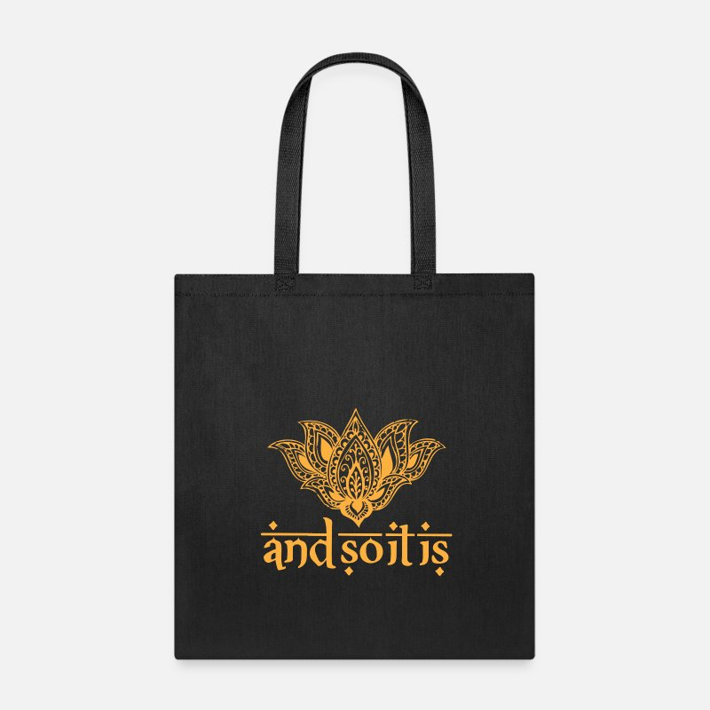 Henna Bags & backpacks - And So It Is Henna Tee - Tote Bag black