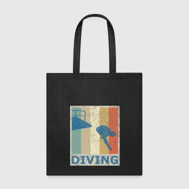 Retro Vintage Style Diving Diver Water Sports - Tote Bag