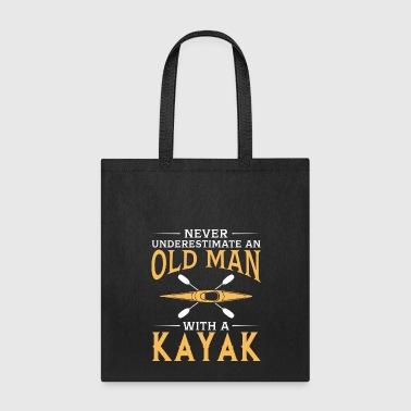 funny An Old Man With A Kayak - Tote Bag