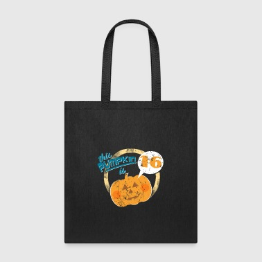 Halloween Pumpkin 16th Birthday - Tote Bag