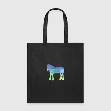 Water Color Gifts Clydesdale Horses In Water Color - Tote Bag