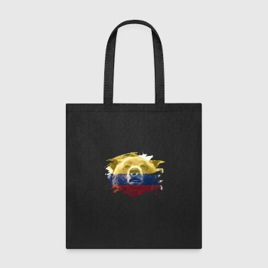 Colombia Flag & Bear - Colombian Pride Design - Tote Bag