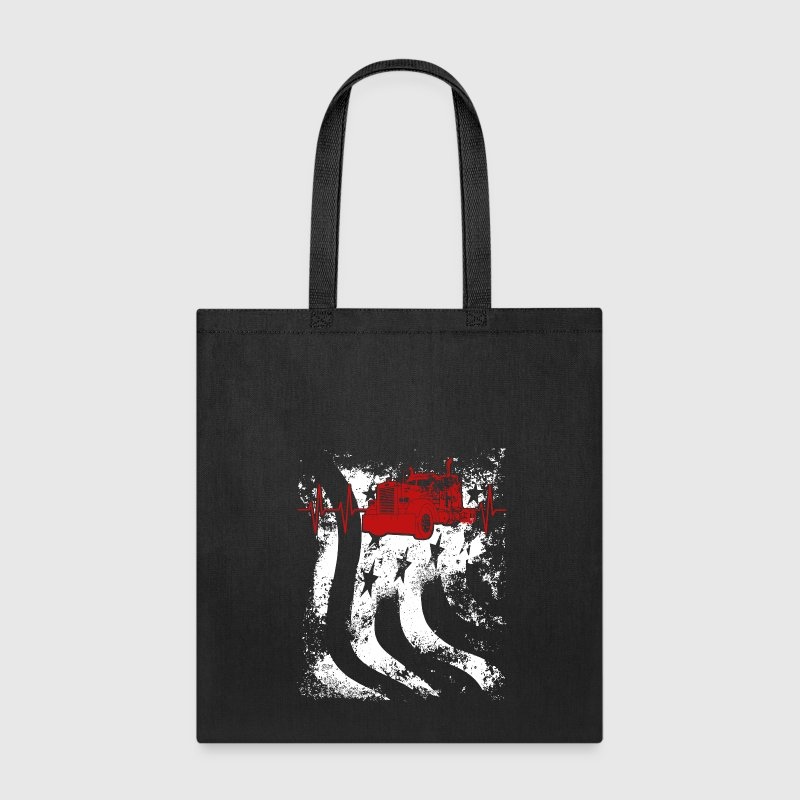 Truckers are US Heartbeat - Tote Bag