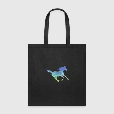 Horse Water Color Palomino Horses In Water Color - Tote Bag