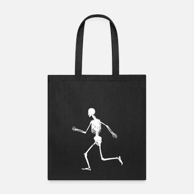 Sprinting Funny Running - Skeleton Sprinting Dashing - Tote Bag