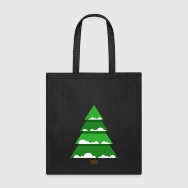 Christmas tree spruce New Year vector image fir - Tote Bag