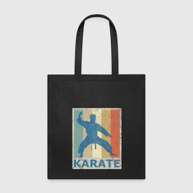 Retro Vintage Style Karate Fighter Martial Arts - Tote Bag