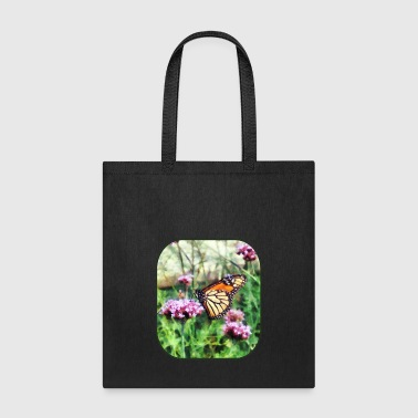 Monarch Butterfly on Pink Lantana - Tote Bag