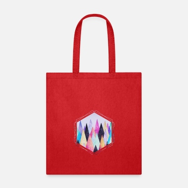 Hipster triangles (geometry) Abstract Mountains  - Tote Bag