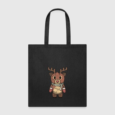 Snowflake Animal Children Vintage Reindeer Christmas Gift - Tote Bag