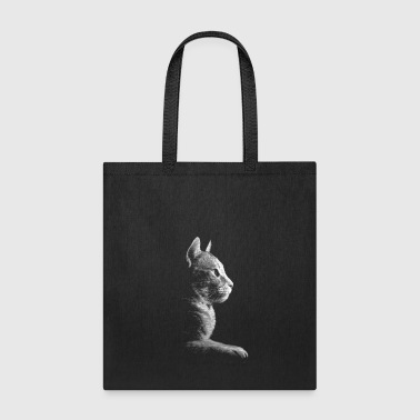 Kitty Silhouette Bookbag - Tote Bag