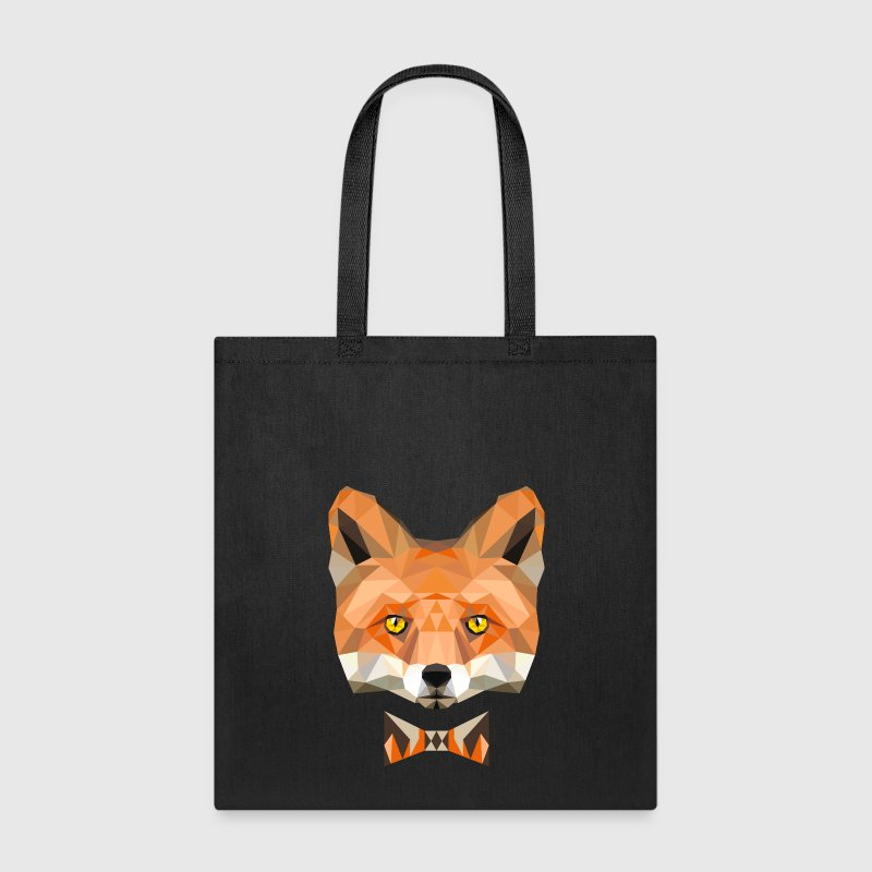 fox bow tie head wild animal wildlife - Tote Bag