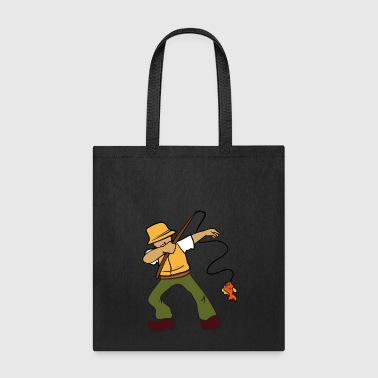 Dabbing Dancing Fisherman Fishing - Tote Bag