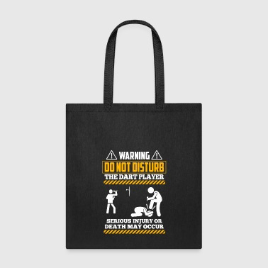 Dart Board Darts Shirt - Dart Board - Warning! - Tote Bag