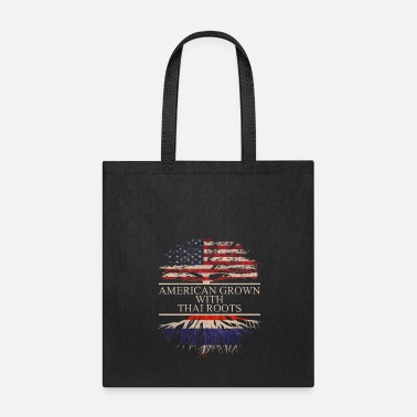 Thai Language American grown with Thai Roots - Tote Bag