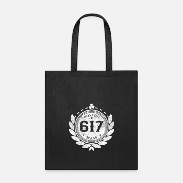 Neighborhood 617 Boston People Mass Logo Design Neighborhood - Tote Bag