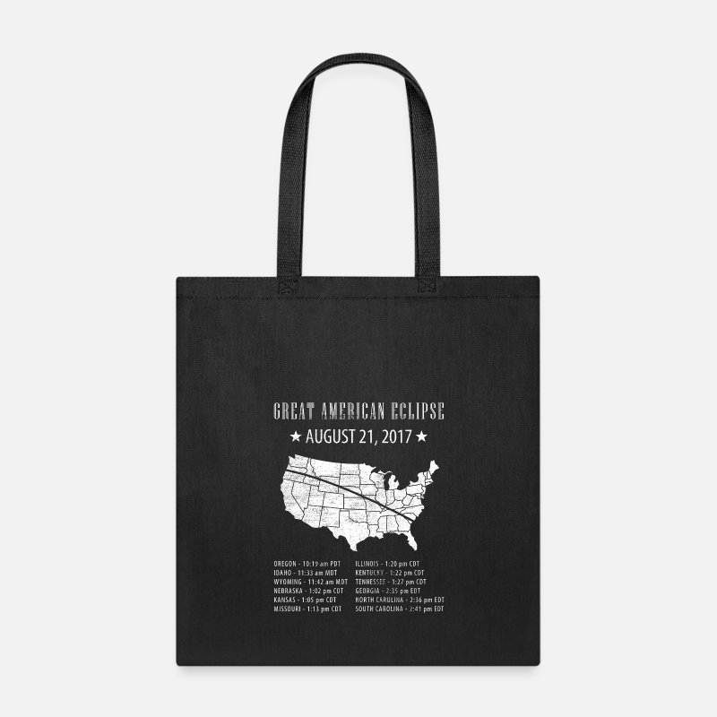 Corona Bags & backpacks - Great American Eclipse States Times - Tote Bag black