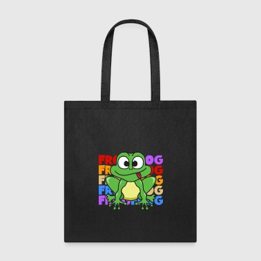 Vintage Retro Pop Art Style Frog Toad Animals - Tote Bag