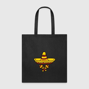 rattles music band sombrero party hat celebrate so - Tote Bag