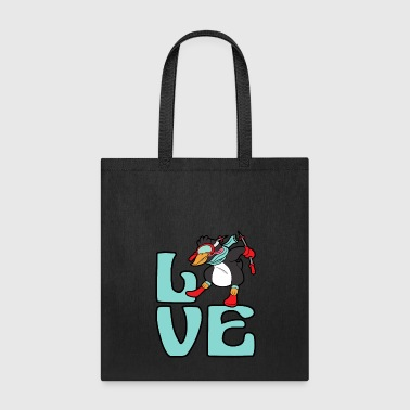 Penguin Ski Skiing Freestyle Winter Sports Snow - Tote Bag
