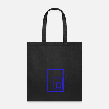 Rectangle blue rectangles - Tote Bag