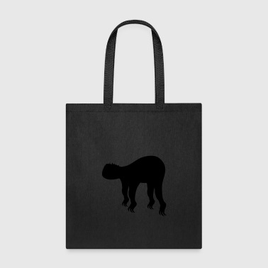 silhouette black outline sloth relax tired chill h - Tote Bag