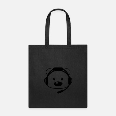 Ball Sport soccer play sport club ball bear cute cute sitting - Tote Bag