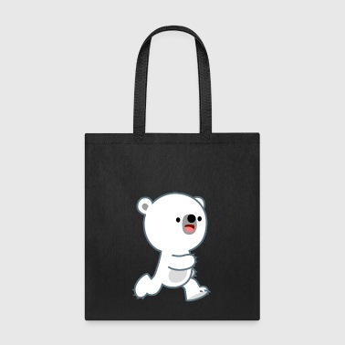 Cute Perky Polar Bear Cub by Cheerful Madness!! - Tote Bag