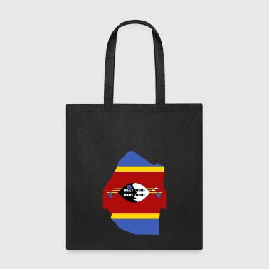 Swaziland Flag Map - Tote Bag