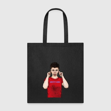 cute witty girl apologizes - Tote Bag