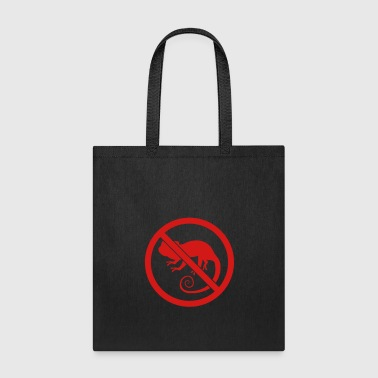 Little zone forbidden shield no chameleon silhouette silh - Tote Bag