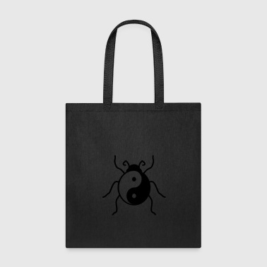 yin yang balance good evil ladybug small sweet cut - Tote Bag