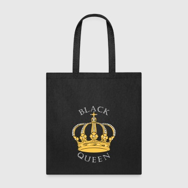 Black Queen Crown - Tote Bag