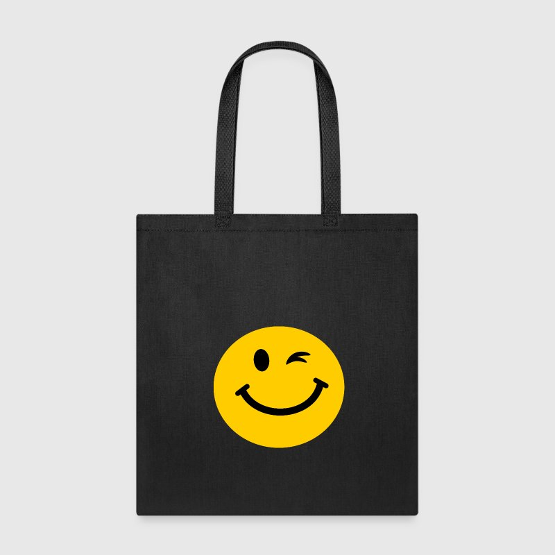 Winking Smiley face - Tote Bag