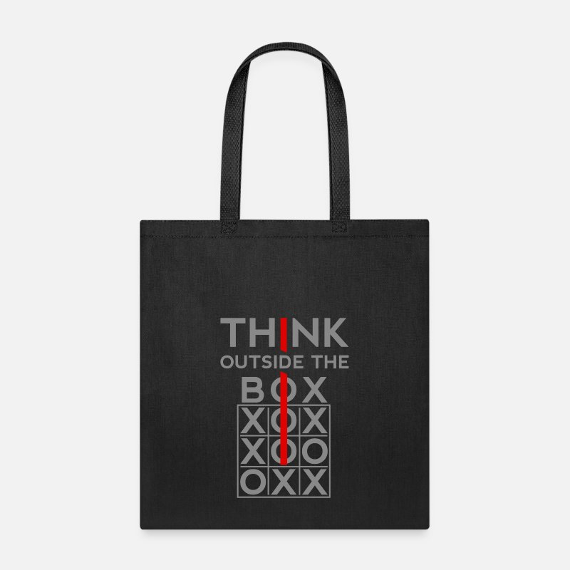 Cool Quote Bags & backpacks - Think Outside The Box - Tote Bag black