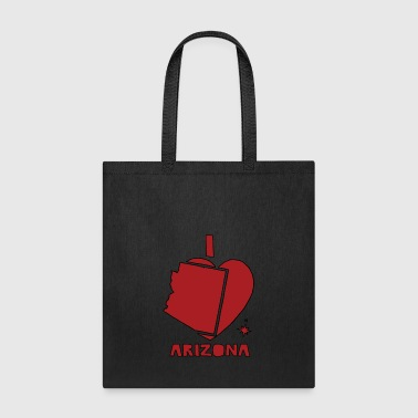 i heart Arizona (red) - Tote Bag