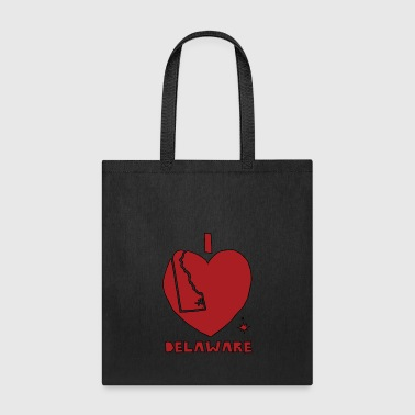 i heart Delaware (red) - Tote Bag