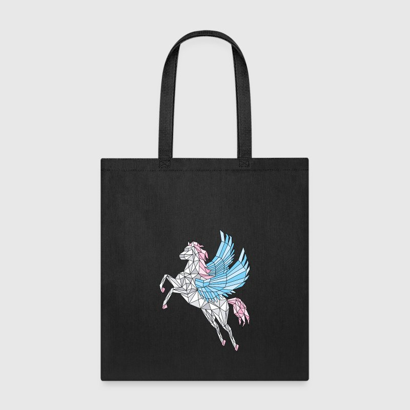 Geometric Pegasus (blue) - Tote Bag