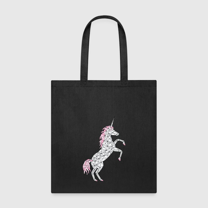 Geometric Unicorn Rearing  - Tote Bag