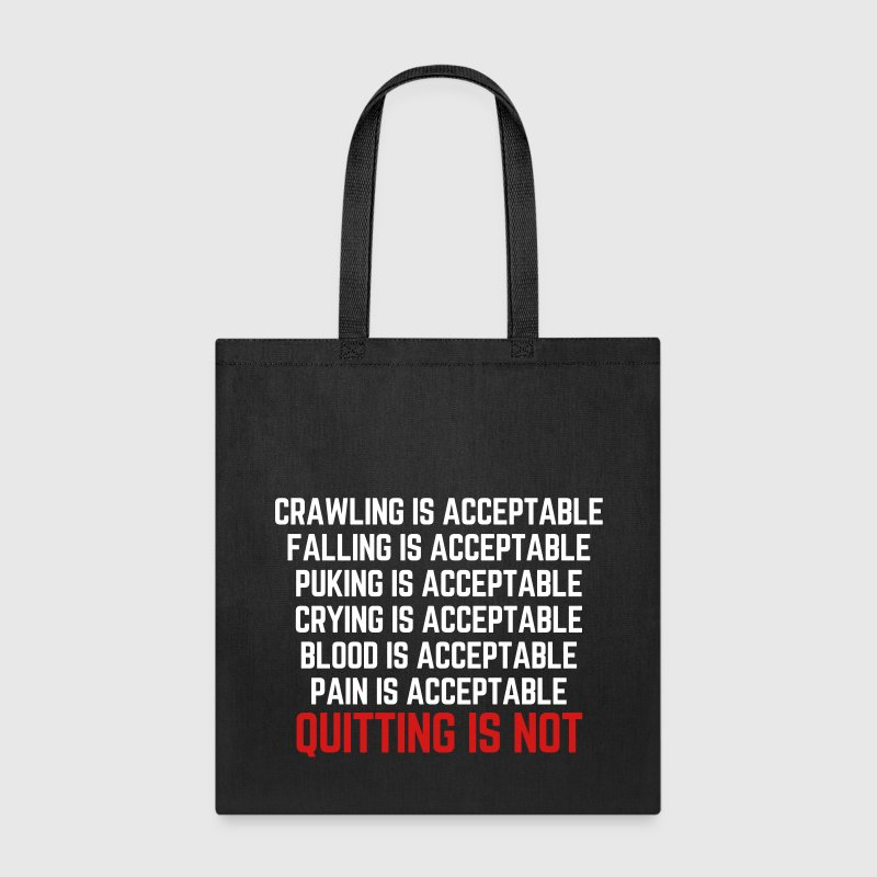 Crawling Is Acceptable  - Tote Bag