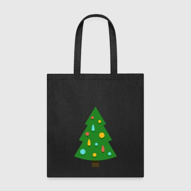 Christmas tree spruce New Year funny vector image - Tote Bag