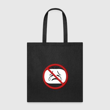 shield prohibited not allowed face head sad cry ho - Tote Bag