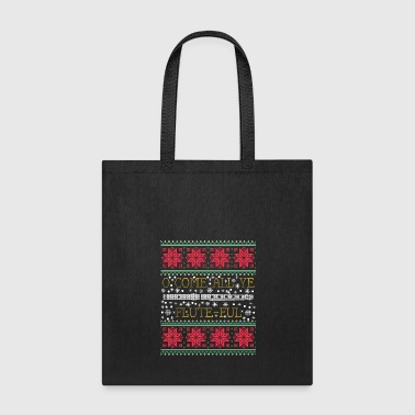Marching Band Flute Marching Band Ugly Christmas Sweater T-Shirt - Tote Bag