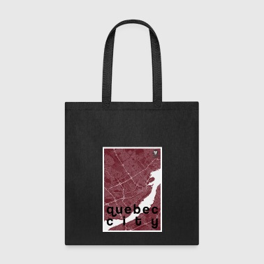 Quebec City hipster city map red - Tote Bag